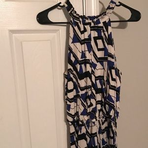 Apt.9 Blue, Black and White Maxi Dress Size M